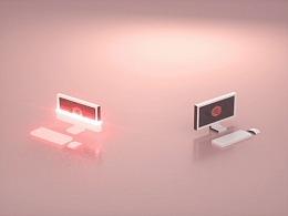 电脑传输数据动画