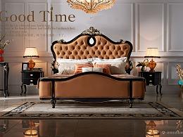 法式轻奢家具摄影-玫瑰夫人(沙发 床 餐桌 书桌 柜)