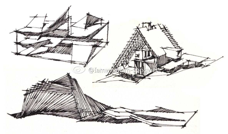 室内设计手绘基础---线稿练习|空间|室内设计|songwei
