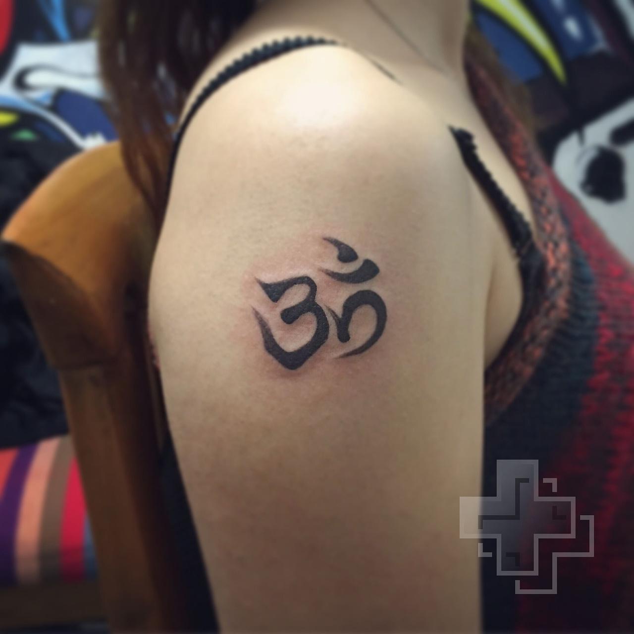 纹身作品——梵文图片