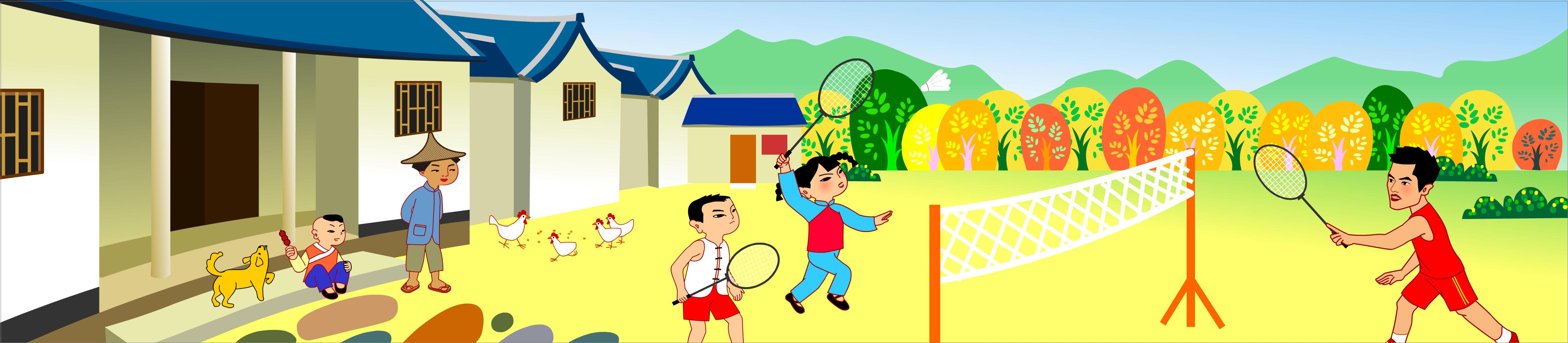 和林丹打羽毛球|动漫|单幅漫画|微设计studio - 原创