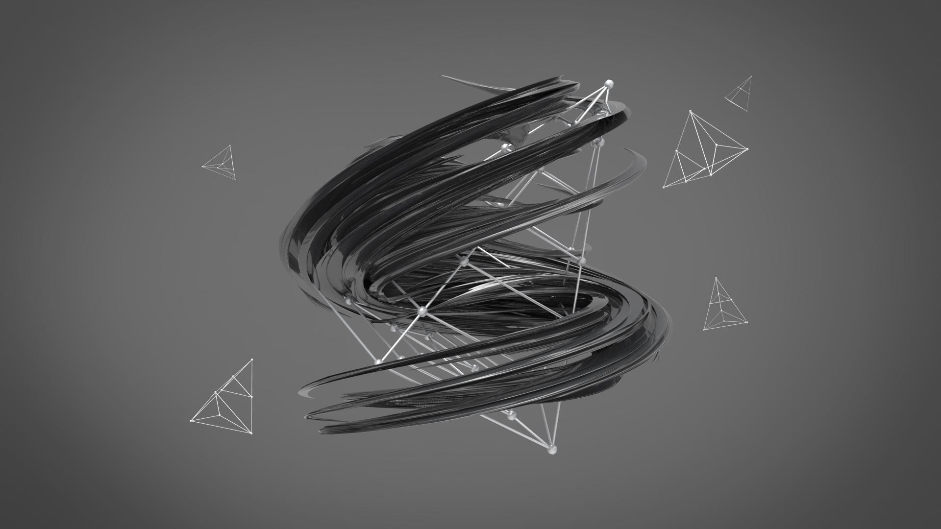 简单的c4d三维视觉设计图片