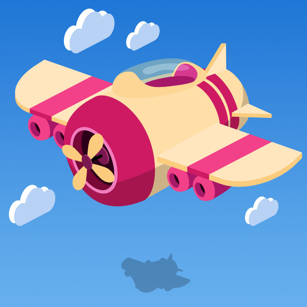 卡通小飞机