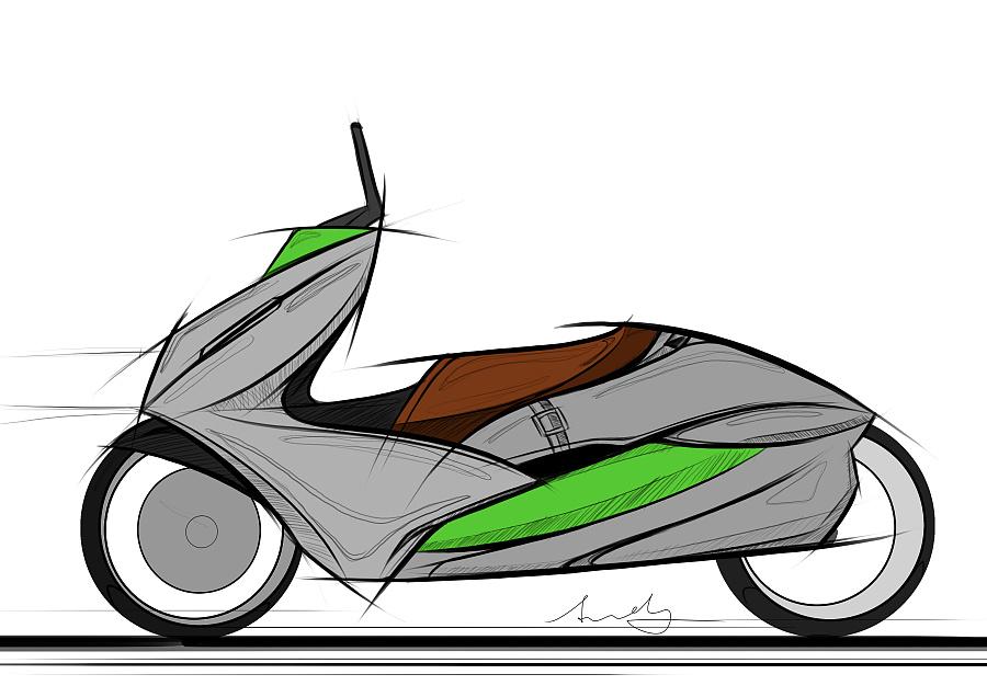 摩托车原创手绘2