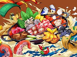 大冬天,宅家吃鸡,涮火锅