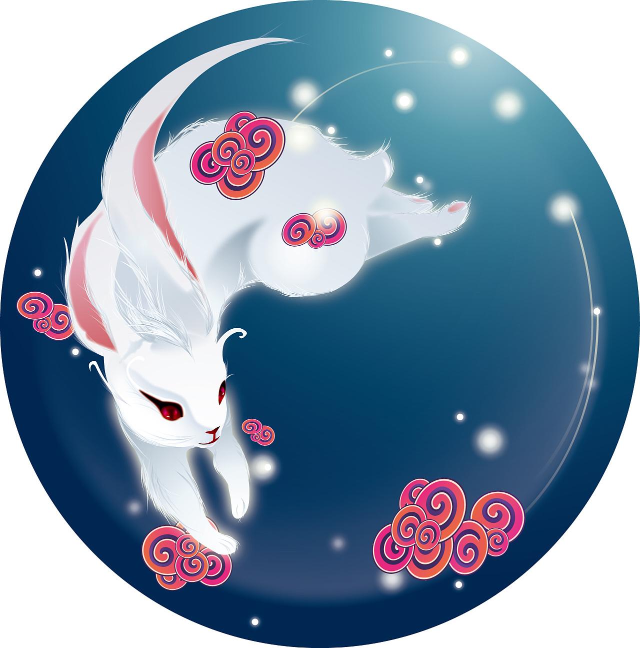 中秋节画的,临摹了网上的一幅图片