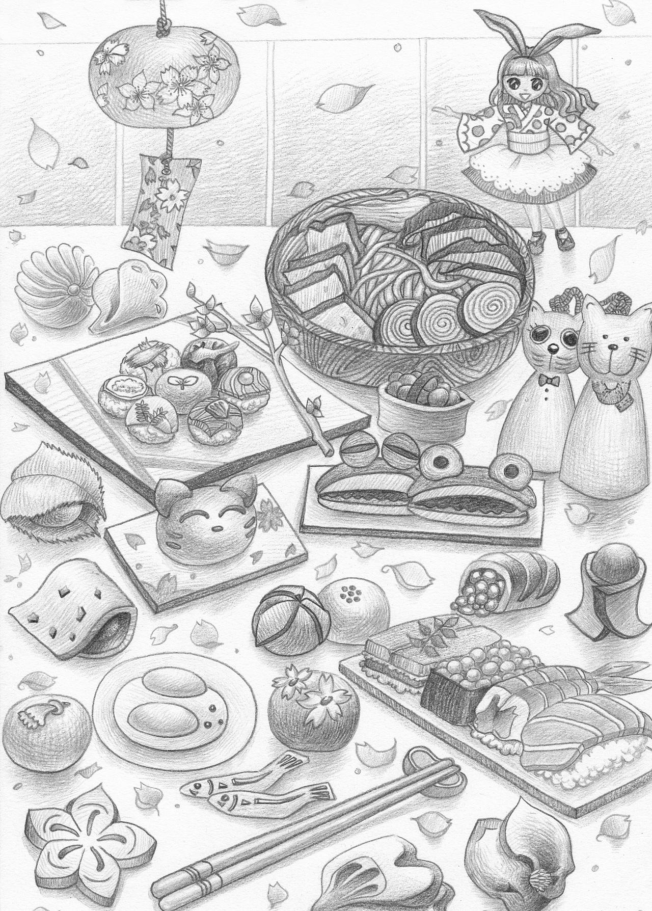 如何学素描——素描小兔子的绘画教程