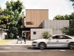 【Lumion 建筑表现】 混凝土住宅 Concrete Box House