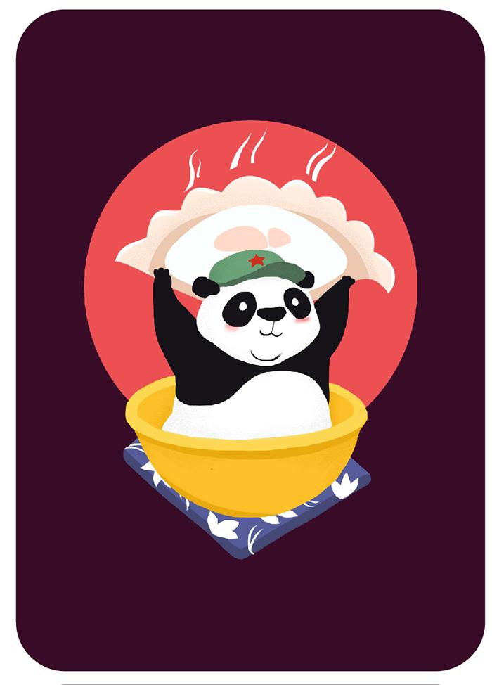 国庆节彩泥手工制作大熊猫