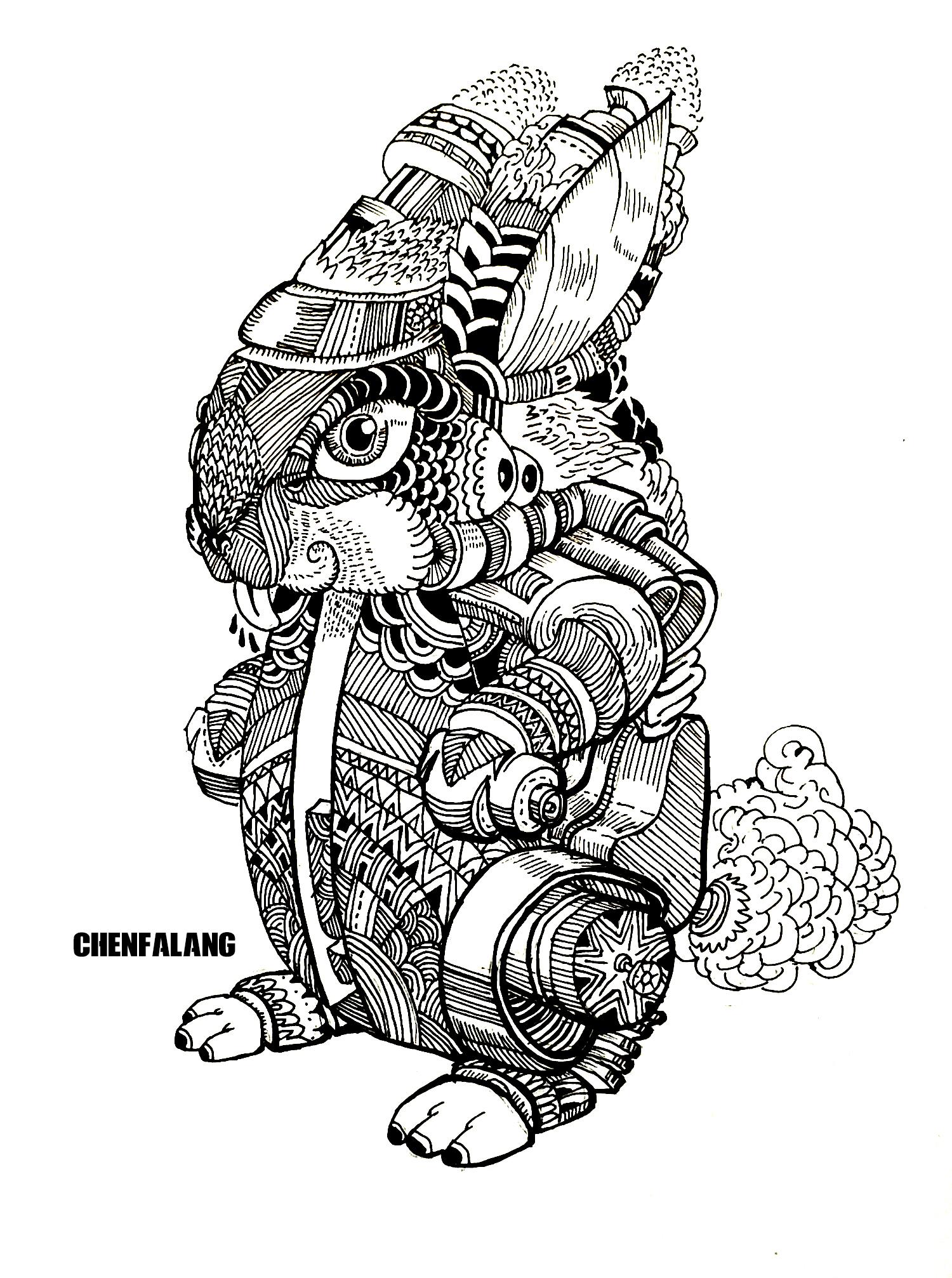 黑白简约手绘插画-黑白手绘简约小插画/创意黑白插画手绘图片/手绘