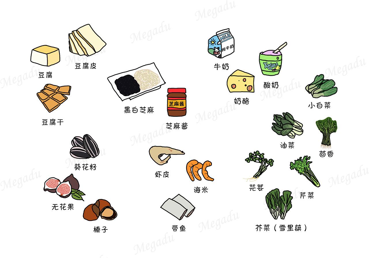 食物减价手绘海报