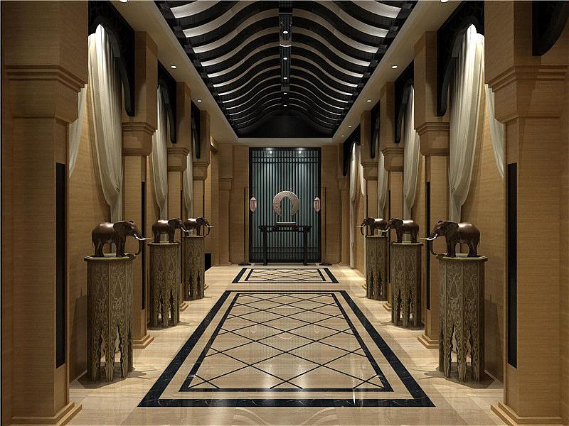 青铜峡现代中式足浴会所设计图片