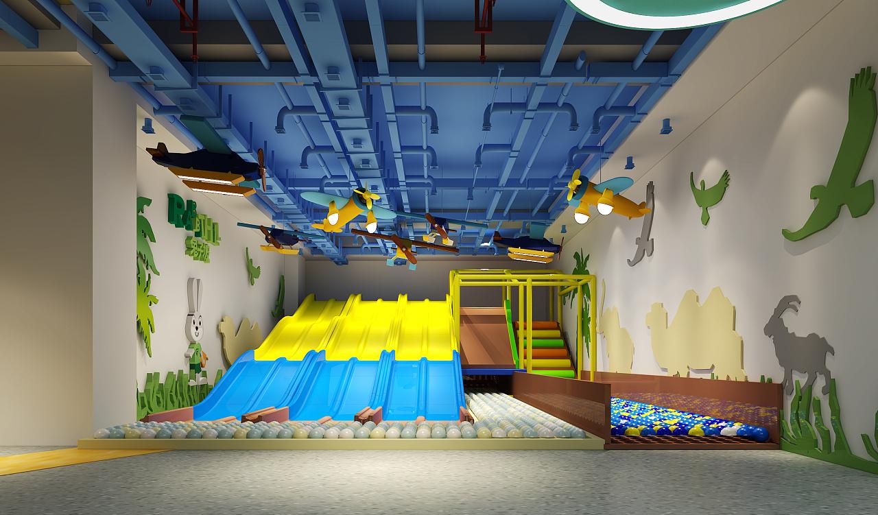 室内儿童游乐场~ 空间 室内设计 张丽天斐效果图 - 原创作品 - 站酷图片