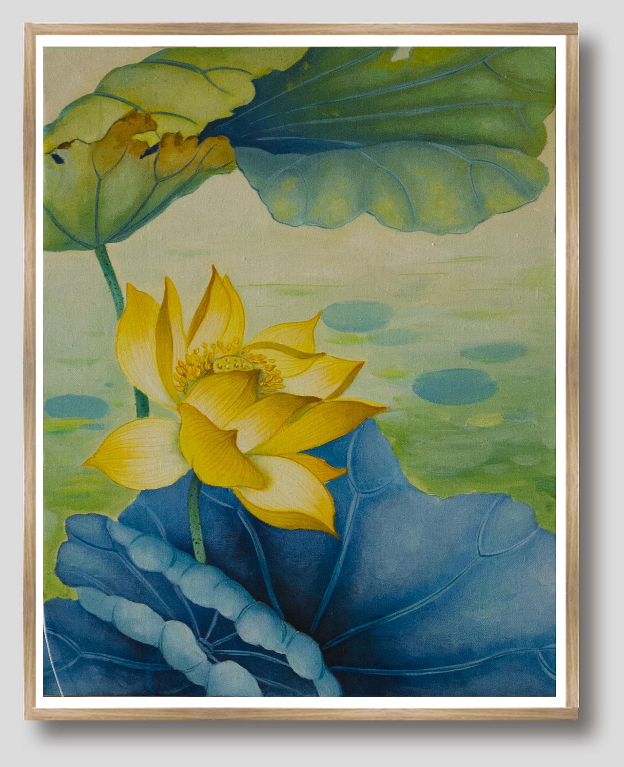 装饰画(荷花)系列|纯艺术|水粉|图图安 - 原创作品
