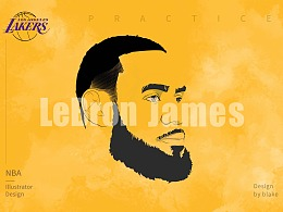 NBA插画 LeBRON JAMES/詹姆斯