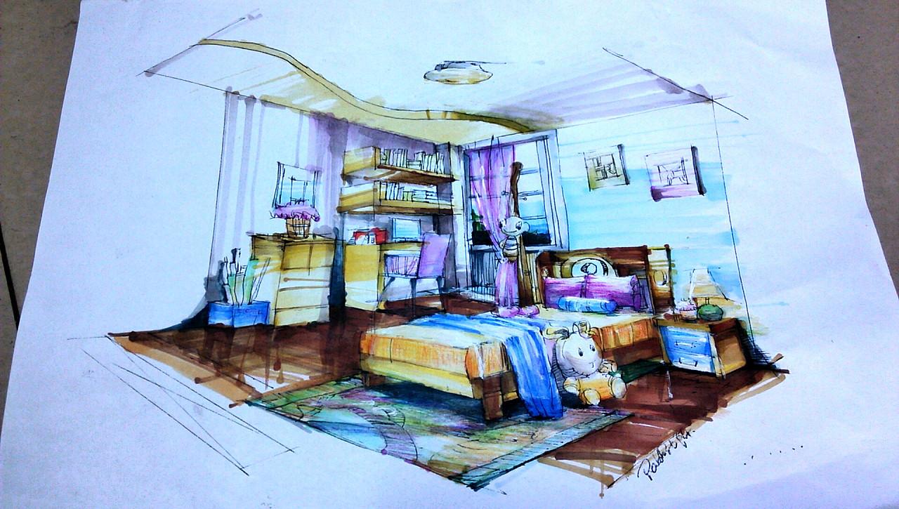 室内手绘图