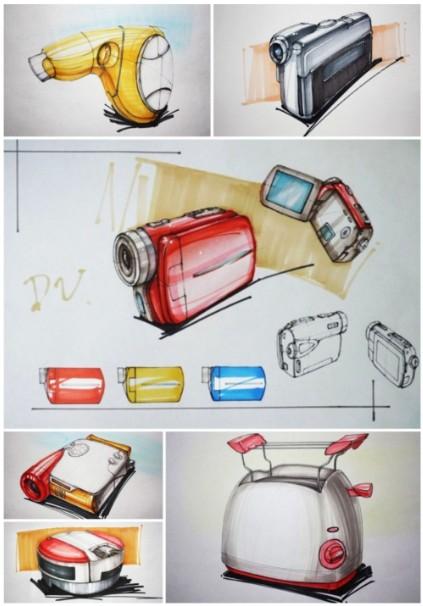 电子产品设计手绘马克笔