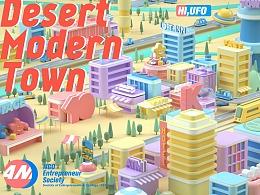 Desert Modern Town