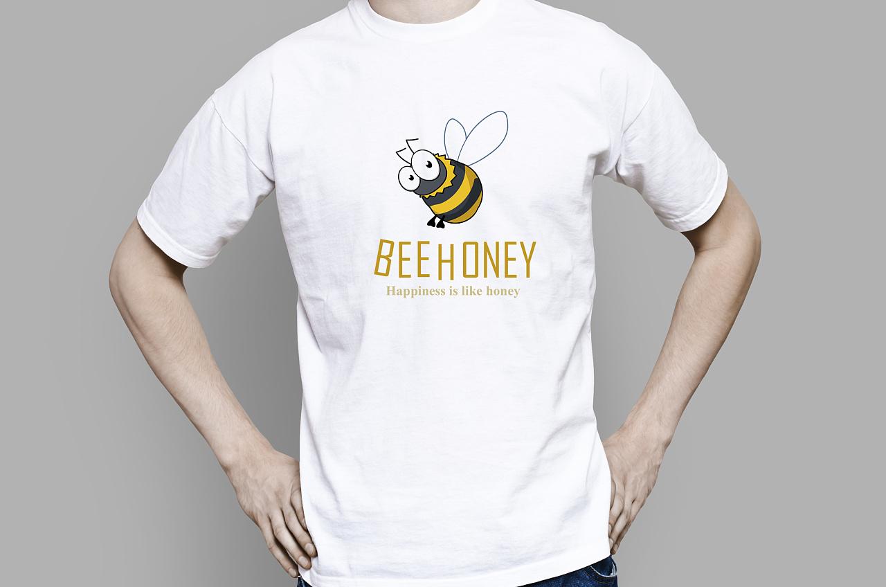 t恤手绘蜜蜂简笔画