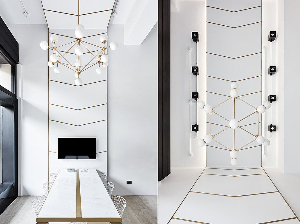 100平创意设计公司办公室装修设计实景图图片