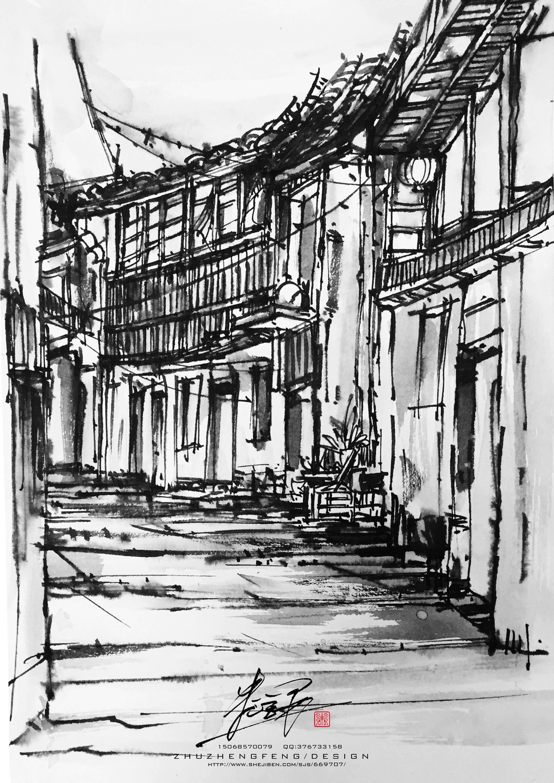绍兴安昌古镇(手绘作品)
