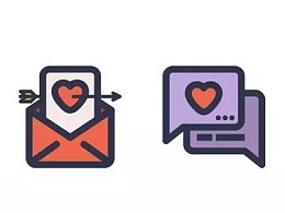 "Illustrator中创建""分享爱""图标"