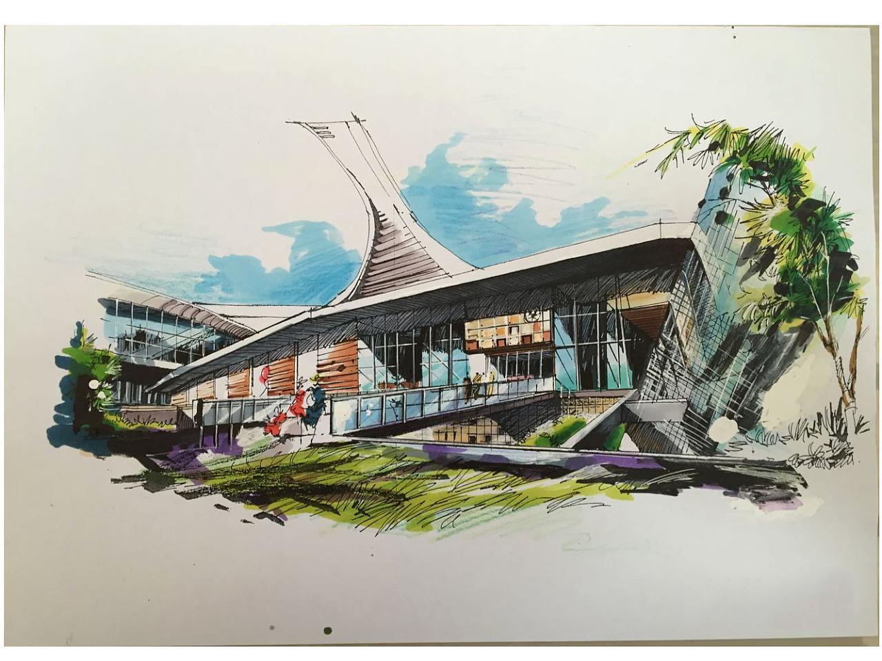 建筑手绘画