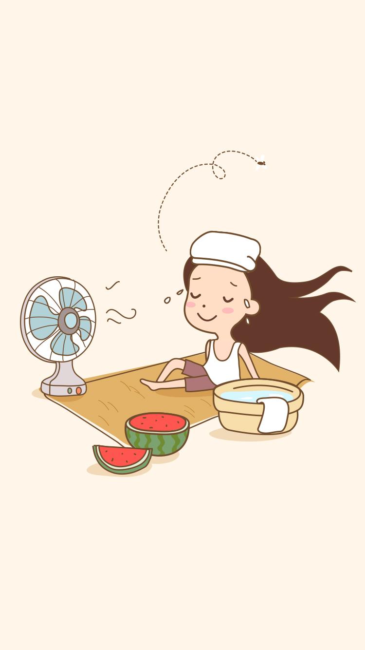 记忆中的夏天,吹吹风扇,吃吃西瓜