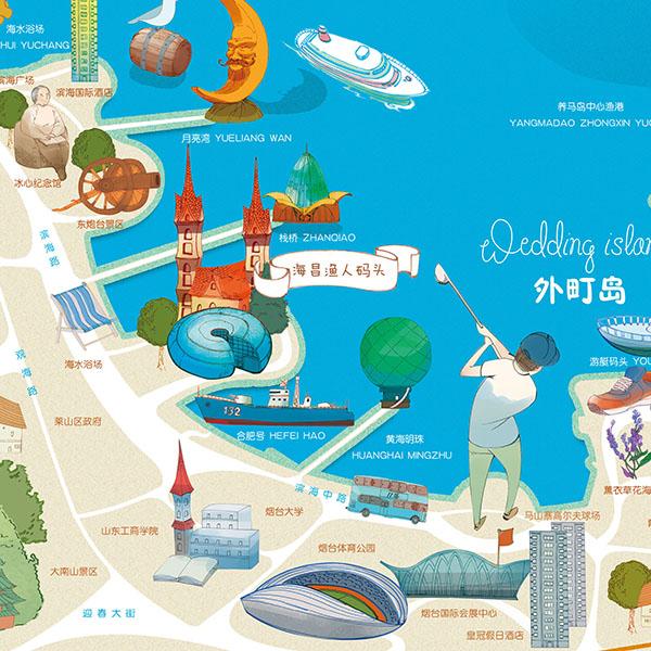 【手绘地图】烟台2.0版—印刷版