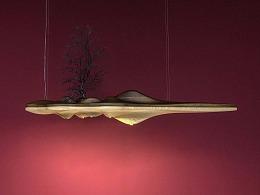 [木修远-孤岛]原创禅意新中式室内创意吊灯软装搭配