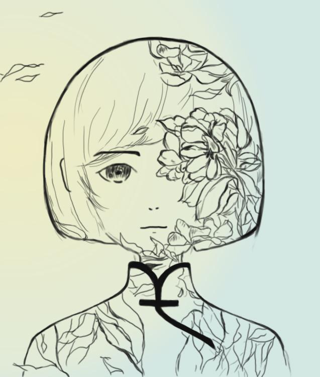 手绘临摹:椿
