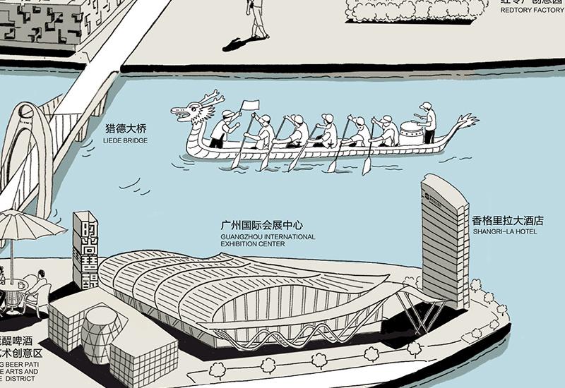 广州创意手绘地图|插画|商业插画|跳叫板 - 原创作品