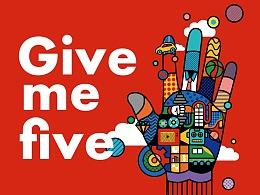 Give me five! 为爱喝彩