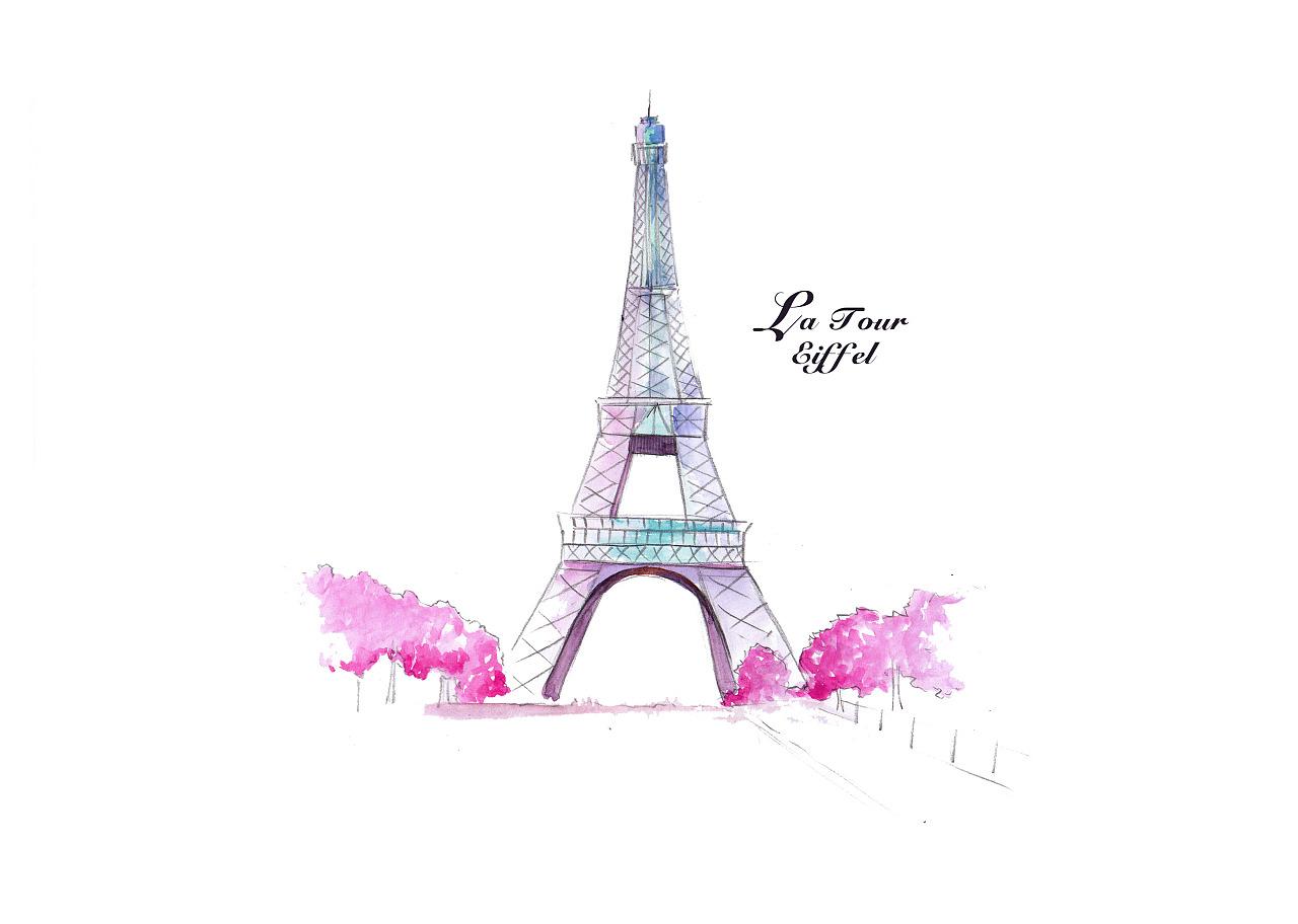 巴黎手绘地图