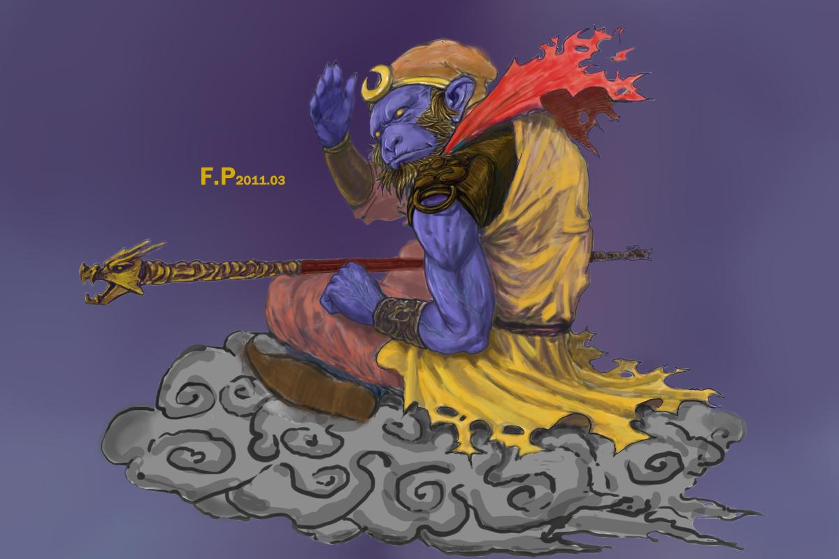 猴子创意涂鸦手绘图片