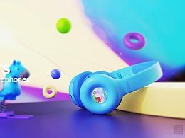 儿童耳机设计-甜甜圈