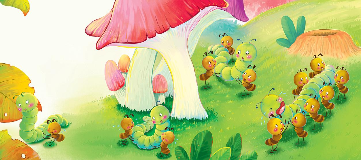 蚂蚁搬虫虫|插画|菜谱儿童|yoyooo-原创作品-不插画放怀孕油的图片