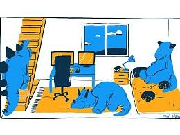 【海平面】插图画家描绘了心目中完美的自我隔离场景