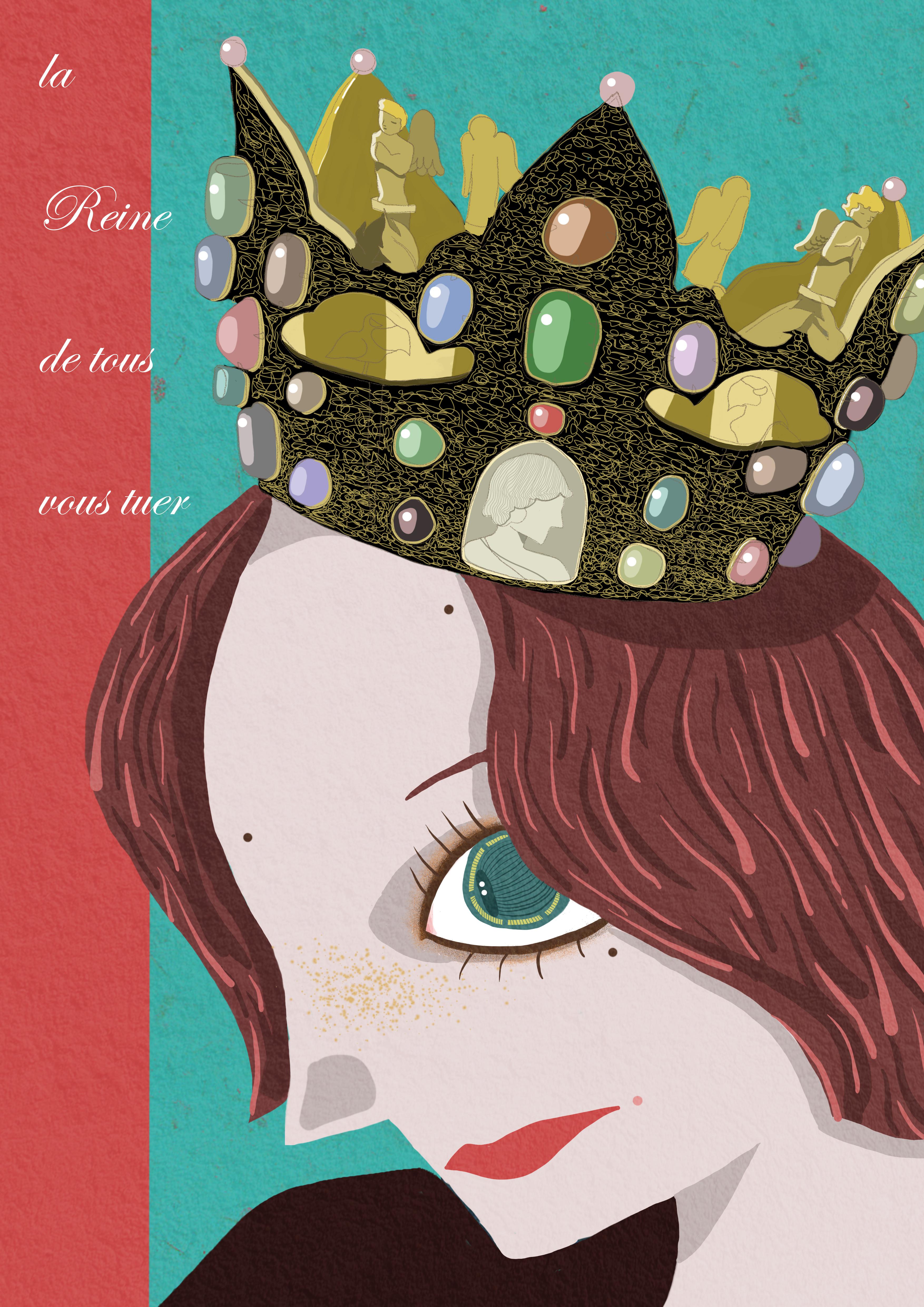 微信头像女皇手绘