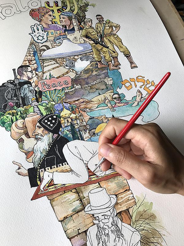 2017年·原创手绘插画 画游记>系列
