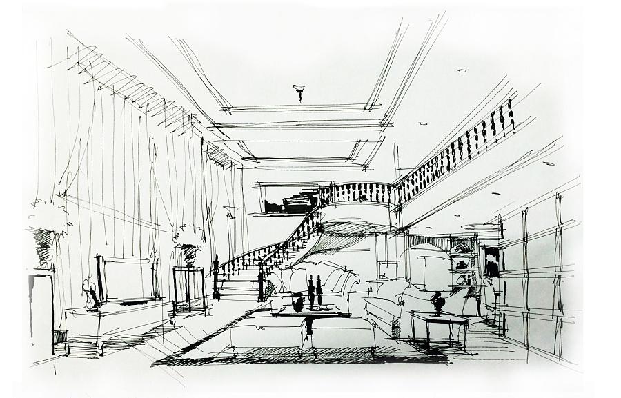 景观手绘,3d,模型|室内设计|空间/建筑|美珍