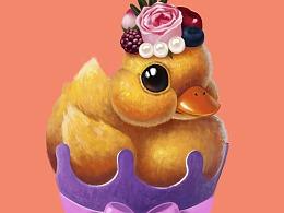 一只富贵的小鸭几