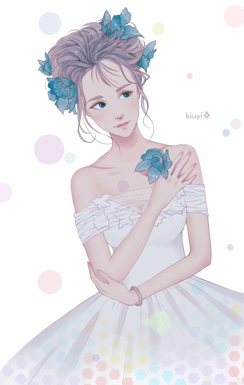 婚纱少女图片