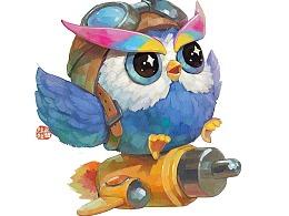 【一个商稿】猫头鹰小可爱
