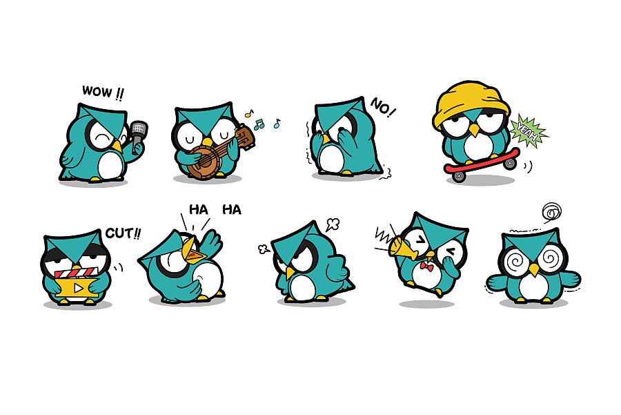 人类实验室卡通吉祥物形象表情动态设计表情插画集合图片