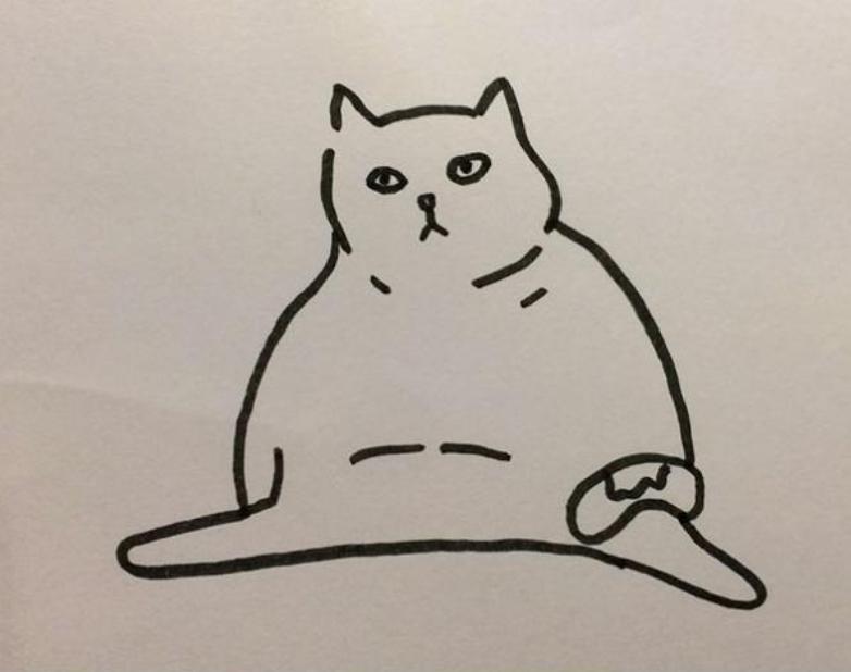 写实风格的可爱小猫咪|速写|纯艺术