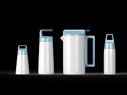 石皮设计工作室杯壶产品系列外观设计