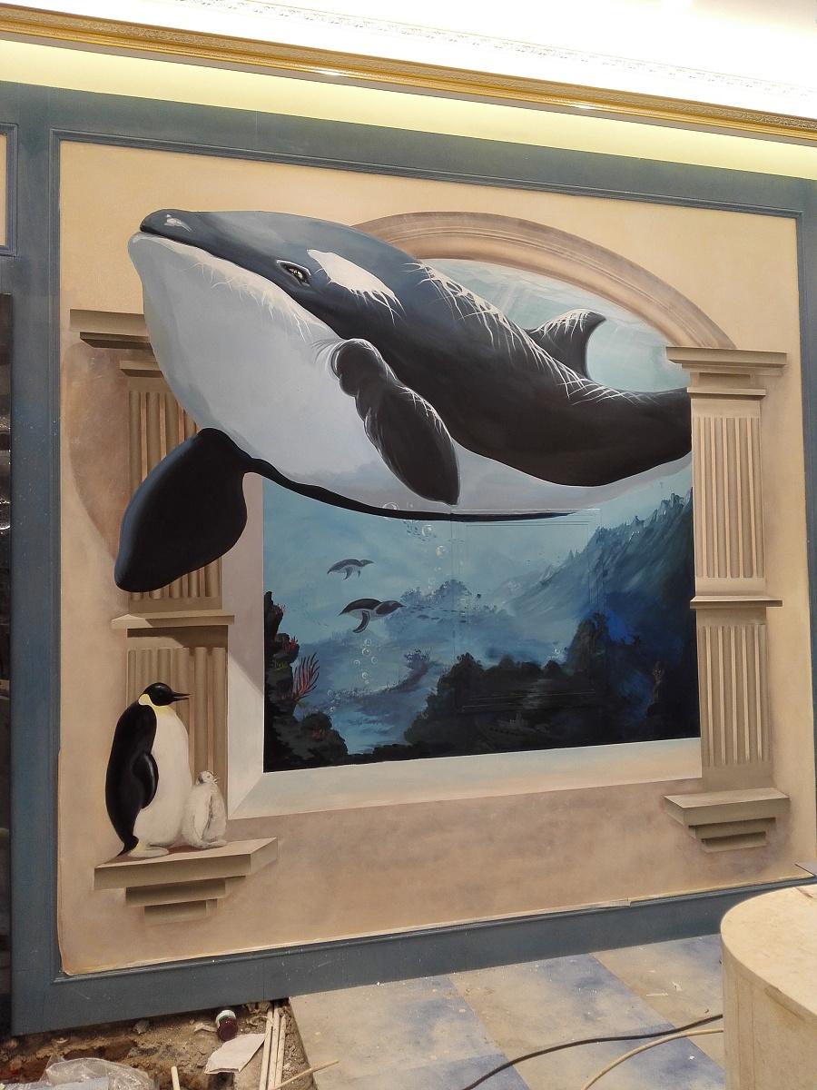 墙体手绘|墙绘/立体画|其他|wk8629296 - 原创设计