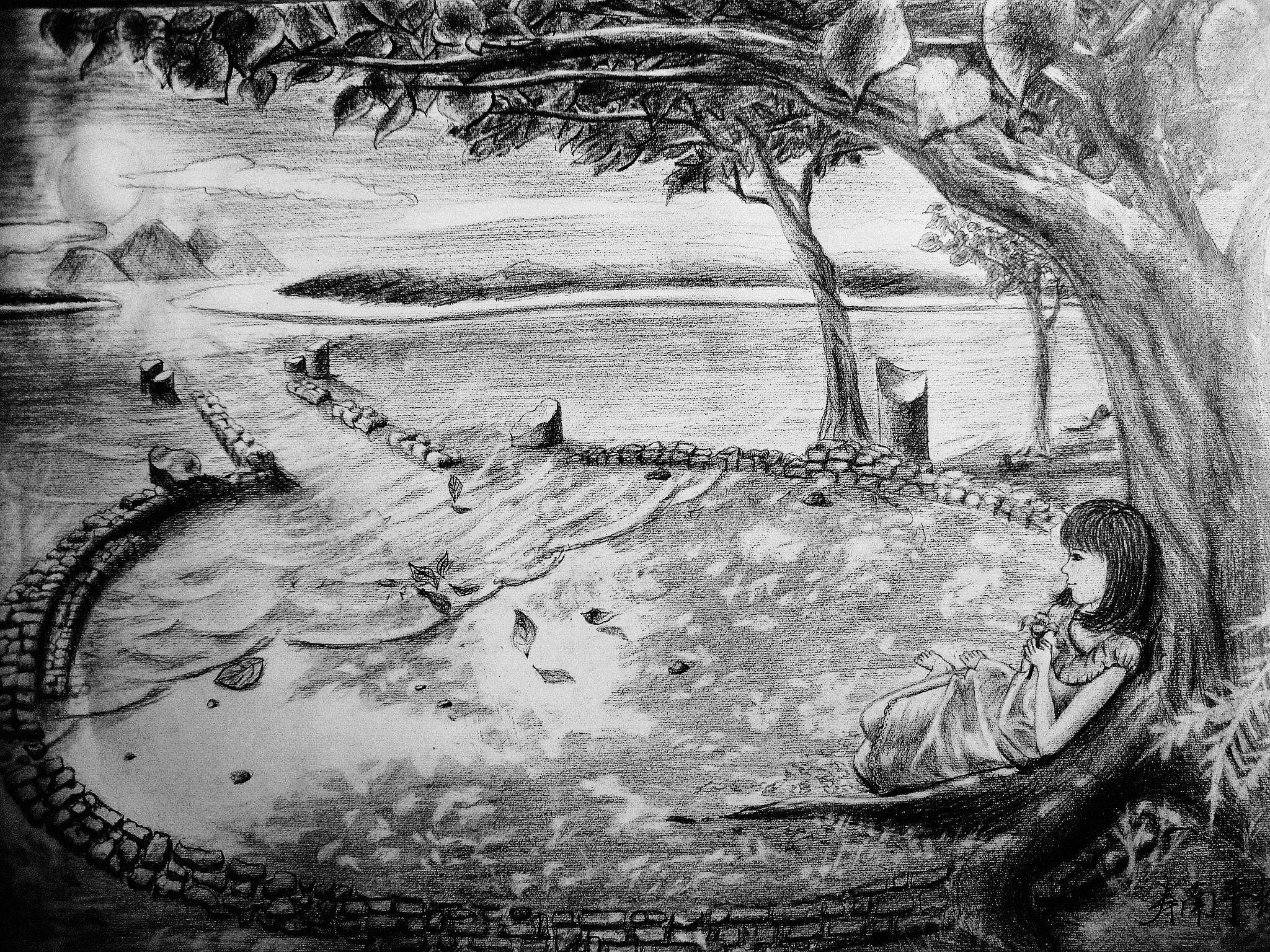 水彩作品/手绘板作品/素描作品