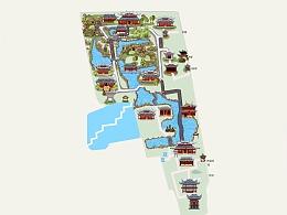 豫园手绘地图